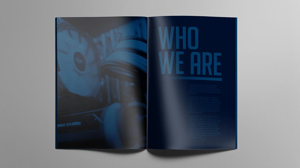 Spartan Computer Solutions editorial design, brochure book - Who we are