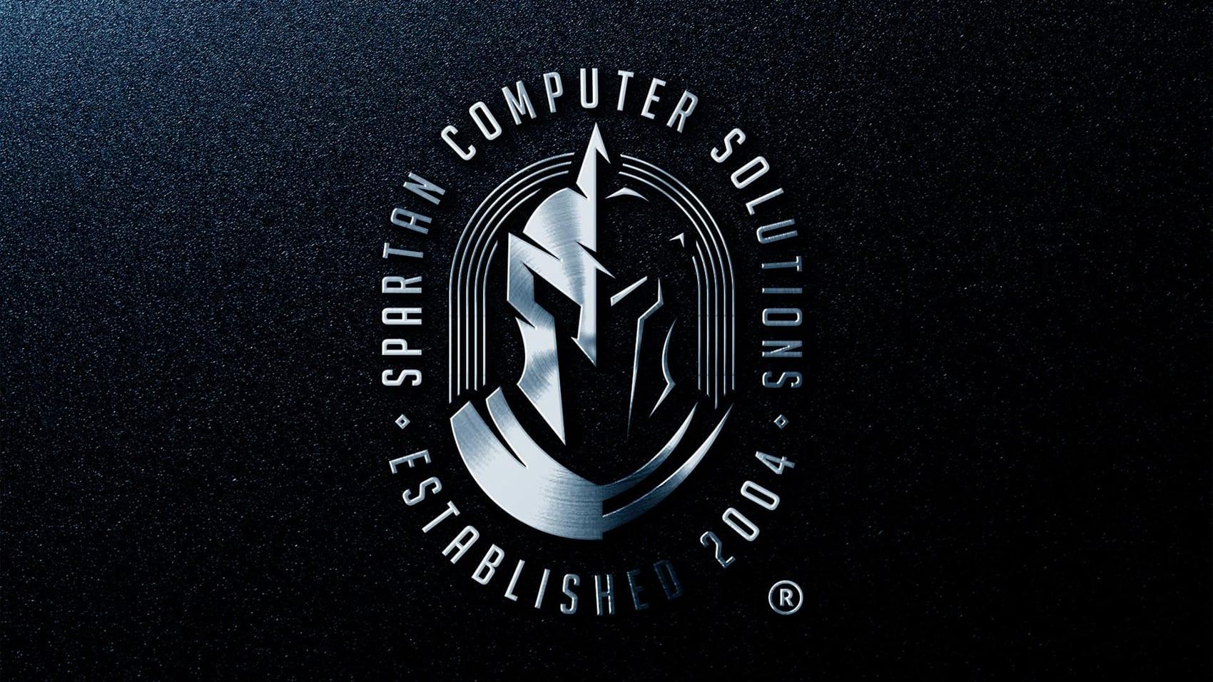 llic Spartan Computer Solutions Logo Mockup