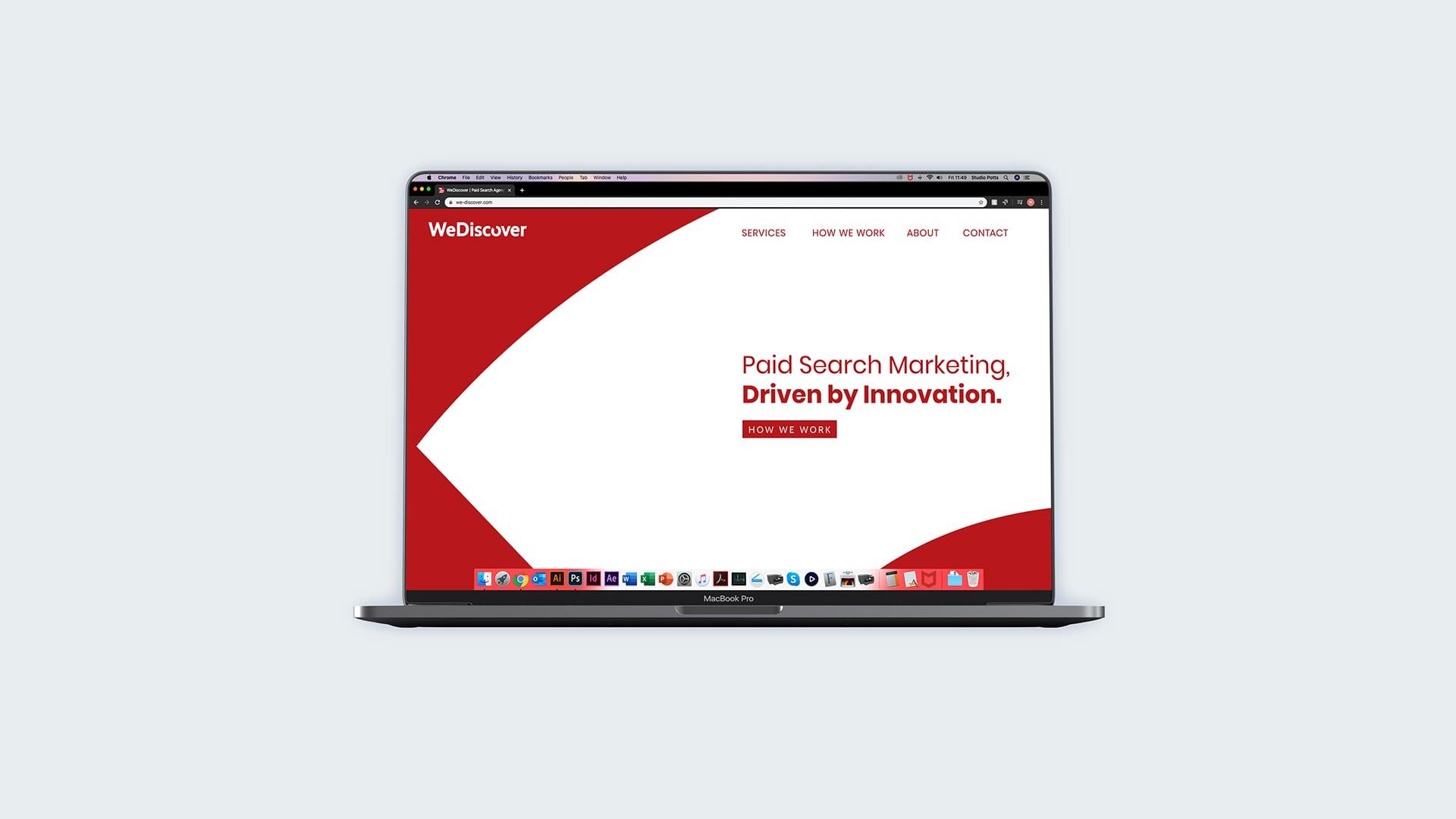 WeDiscover Desktop Website
