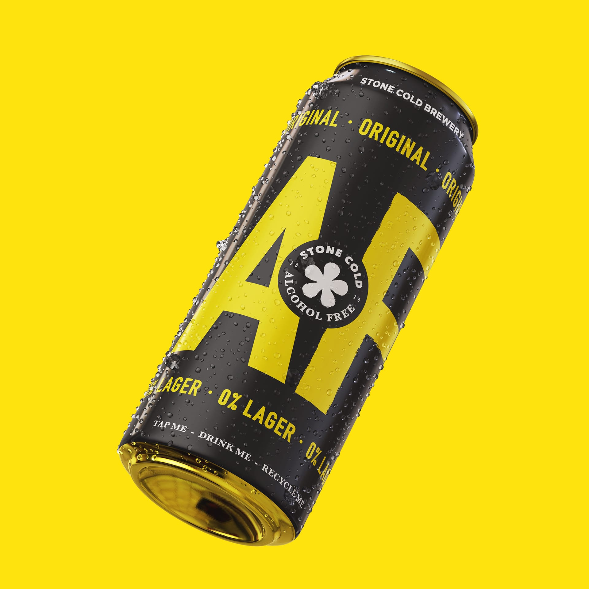 Stone Cold Alcohol Free Beer - Original 0% Lager