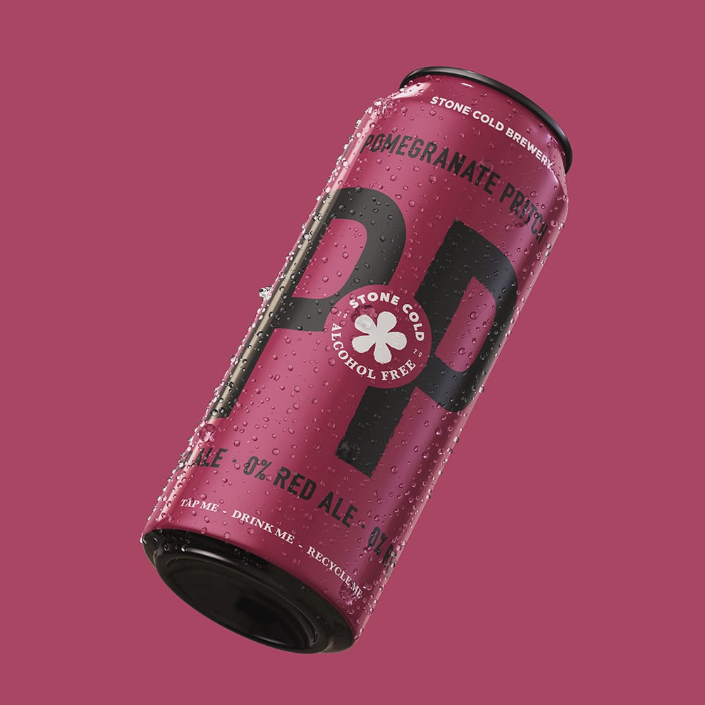 Stone Cold Alcohol Free Beer - Pomegranate Pritch 0% Red Ale
