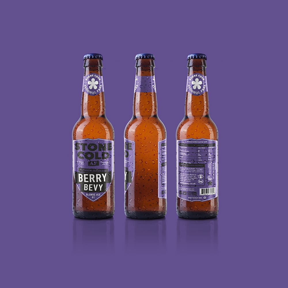 Stone Cold Alcohol Free Beer - Berry Bevy 0% Blonder Ale