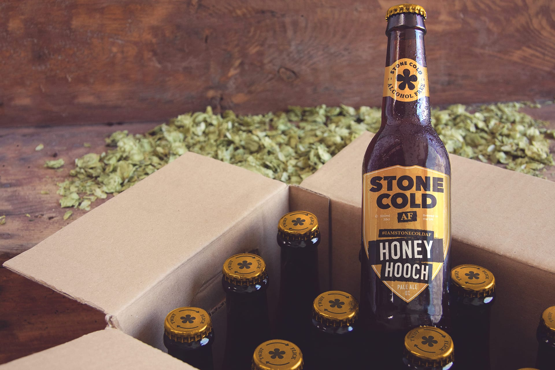 Stone Cold Alcohol Free Beer - Honey Hooch 0% Pale Ale