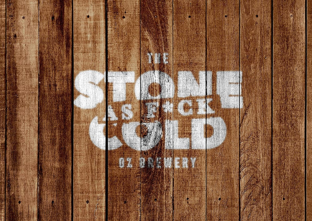 Stone Cold Alcohol Free Brewery - Logo Spray Painted on Wood
