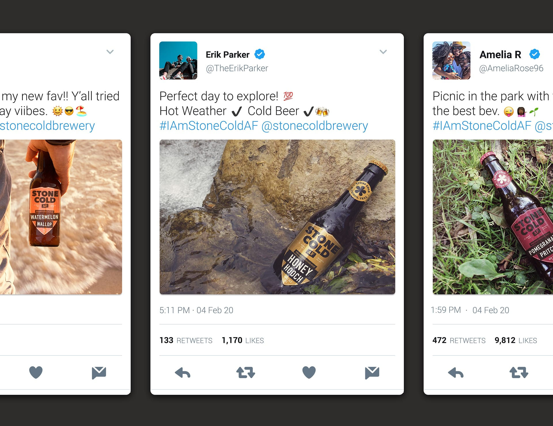 Stone Cold Alcohol Free Beer - Twitter Response From Customers - Brand Advocacy - #IAmStoneColdAF