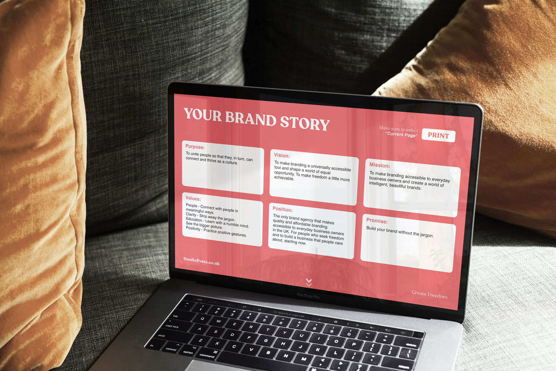 Studio Potts Starter Brand Profile to help businesses with their business, branding, marketing, and sales.