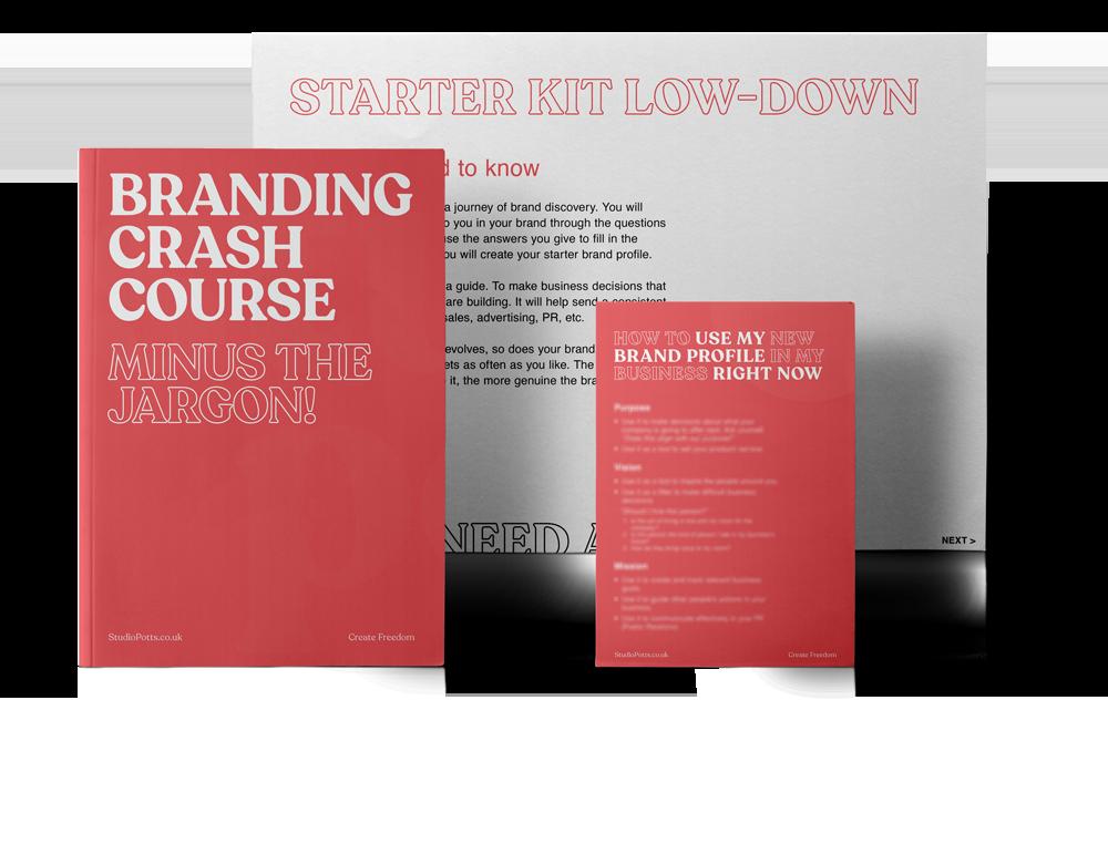 Branding Crash Course, Studio Potts Brand Starter Kit, DIY Starter Brand Builder, Useful brand and marketing resources