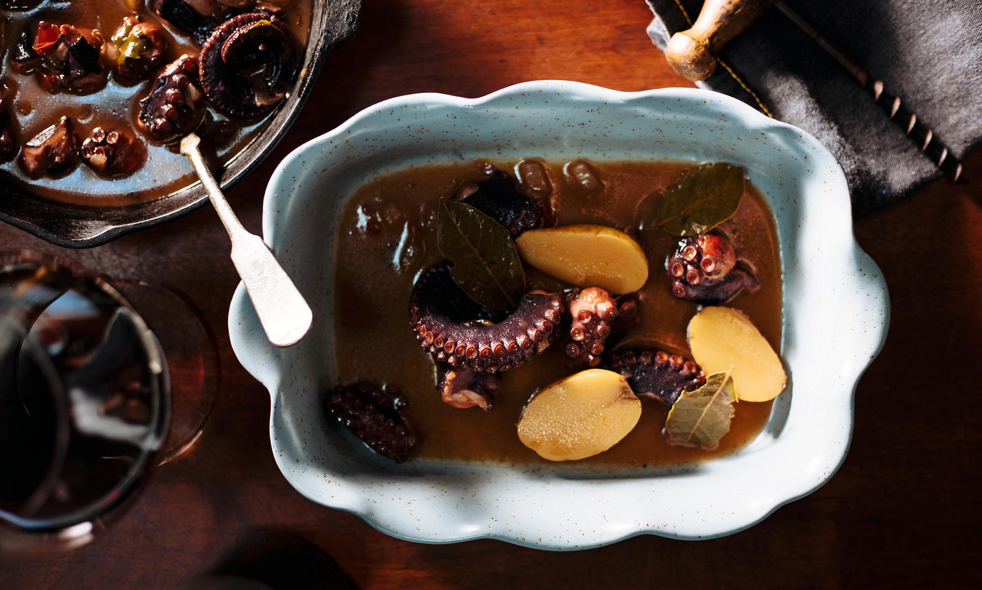 Portuguese octopus stew