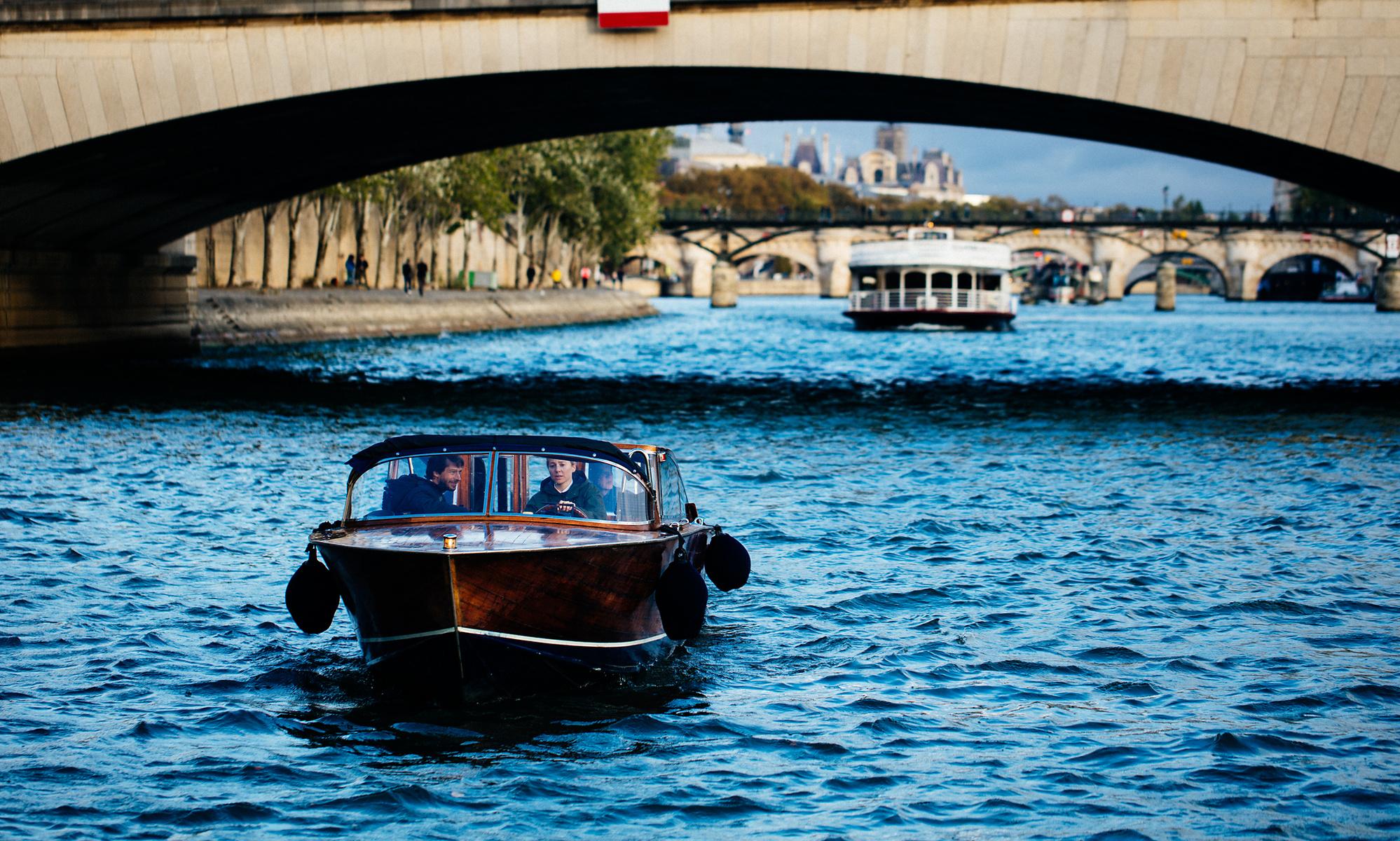 Paris canal boat