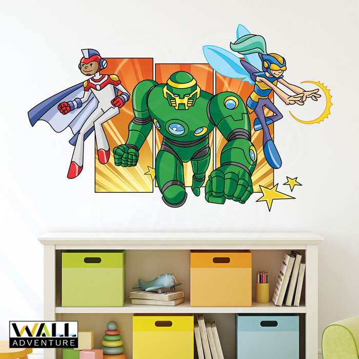 Super Hero, Activity coloring book, comic book, Fabric Wall Decal