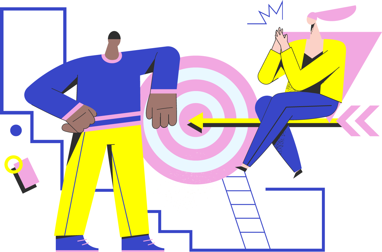hitting target illustration - highlighter ecommerce studio