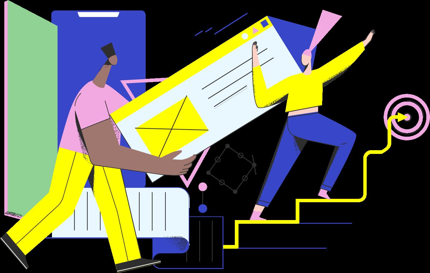 drop us a line illustration - highlighter ecommerce studio