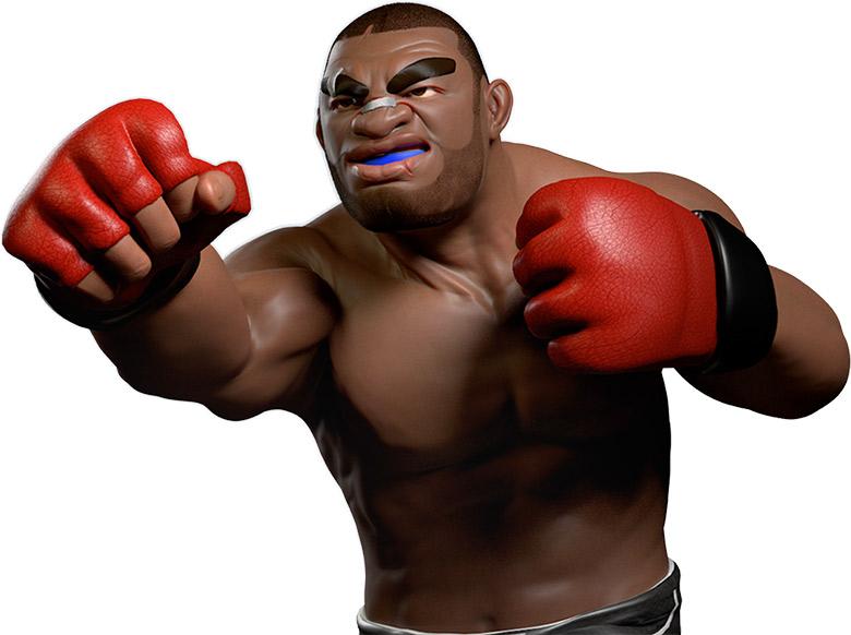 black mma fighter