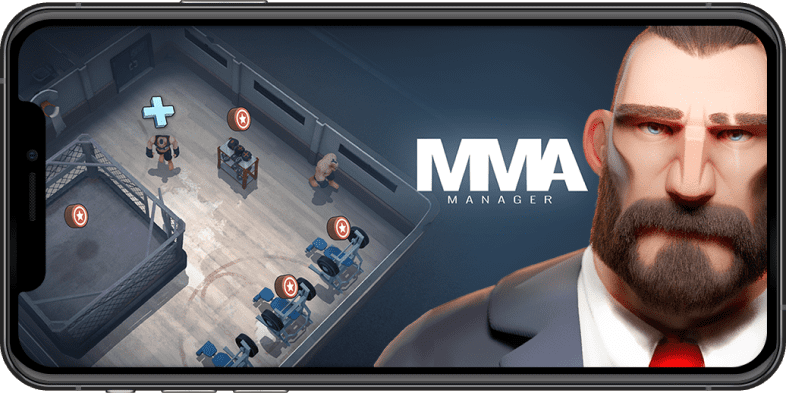 mma manager game on iphone