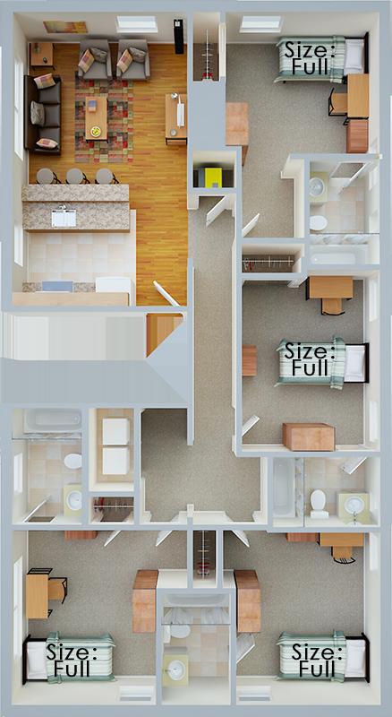 4 Bedroom Floor Plan Layout