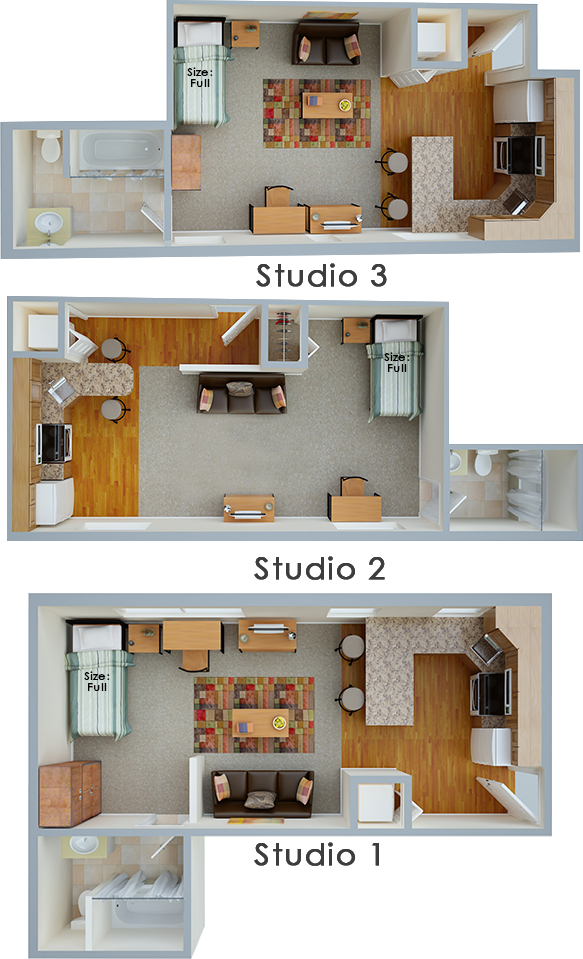 Studio Floor Plan Layouts