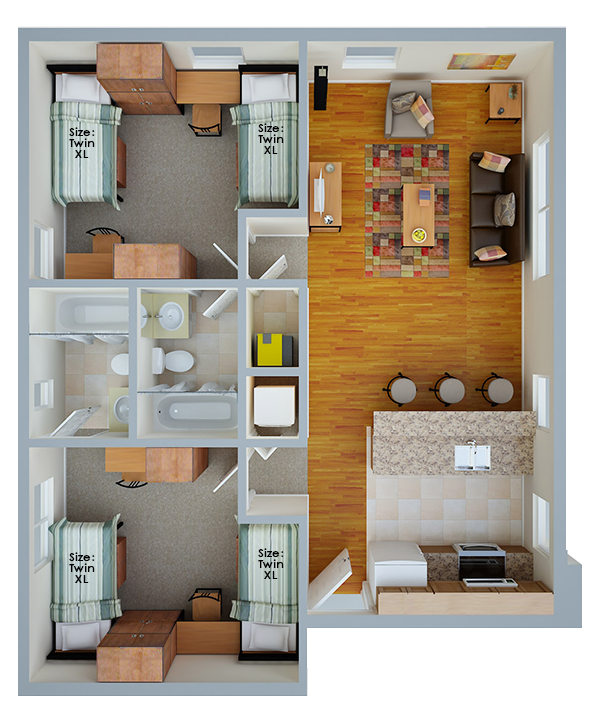 Shared Suite Floor Plan Layout