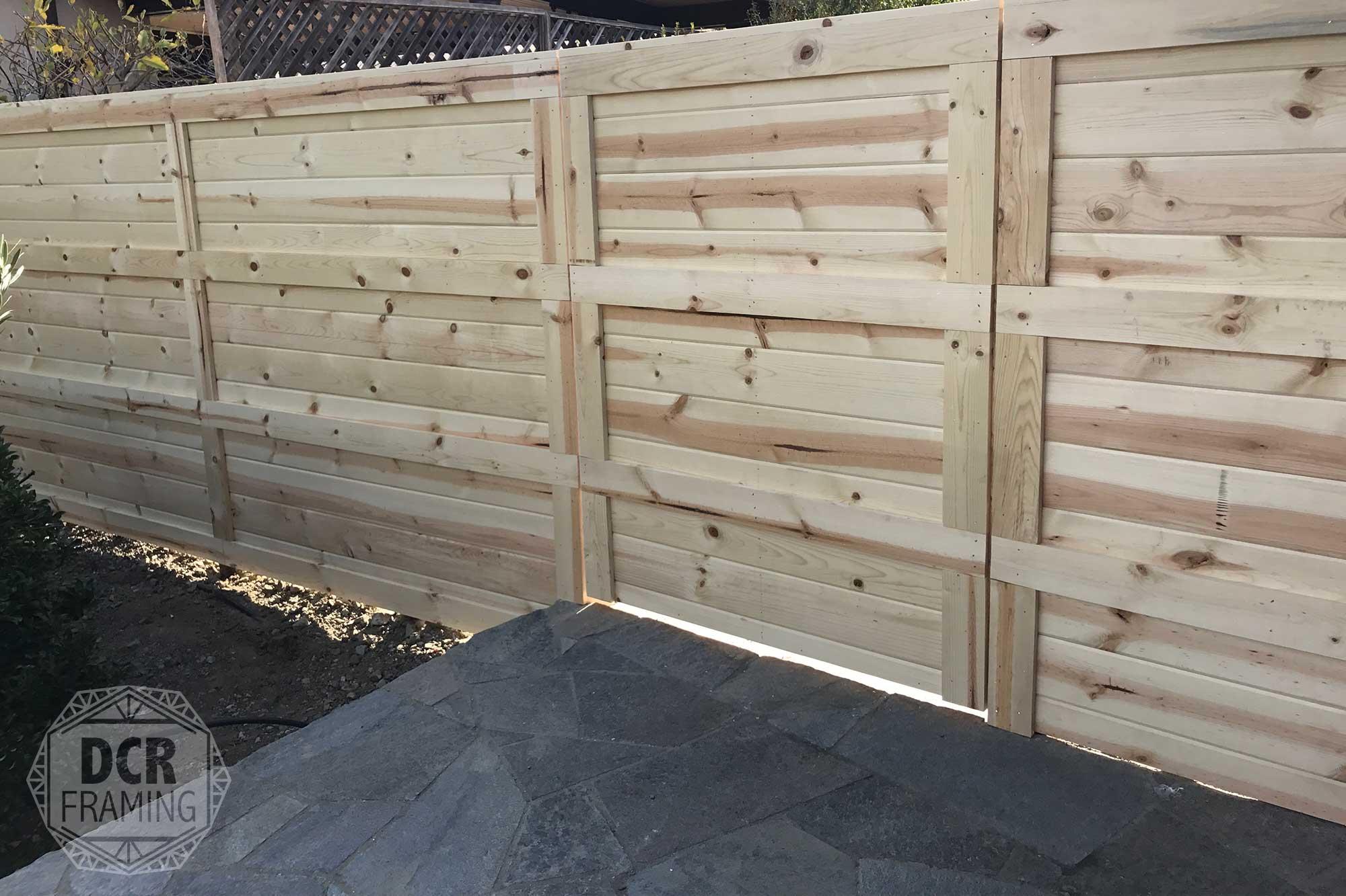 Light wood fence