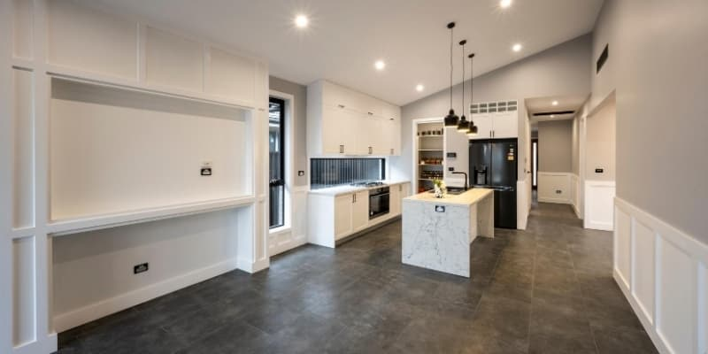 Living kitchen open plan space