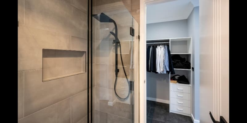Ensuite shower and walk-in robe