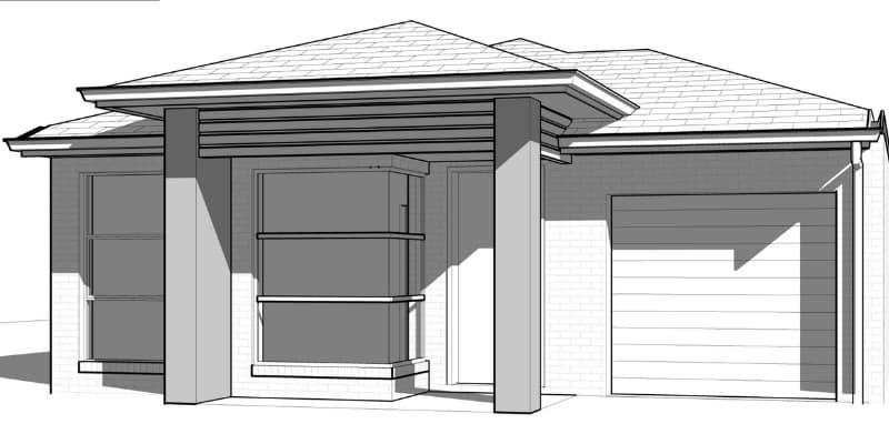 Screen shot of exterior home plan