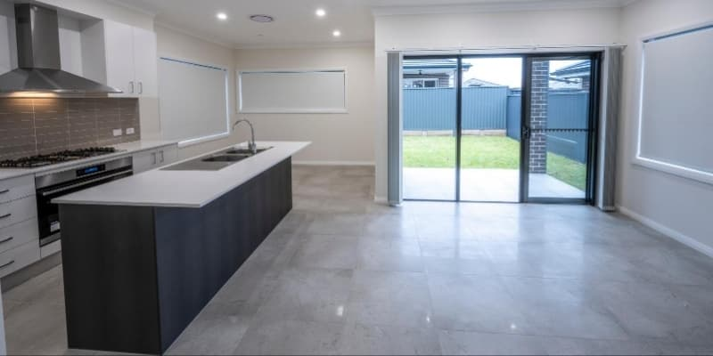 Living, dining and kitchen open plan