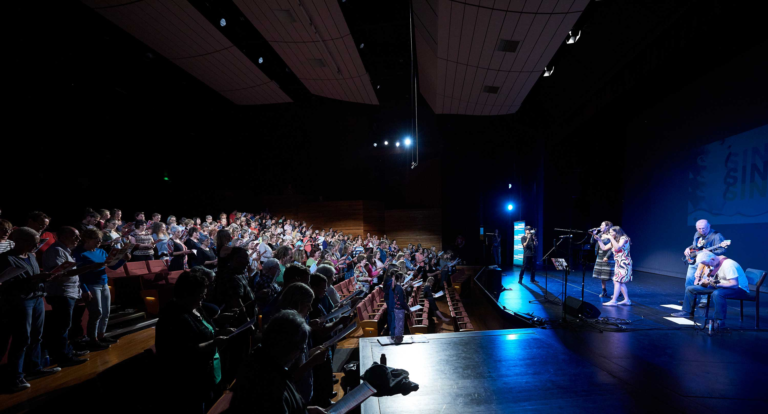 A view from the stage of the participating singers for Sing Sing Sing