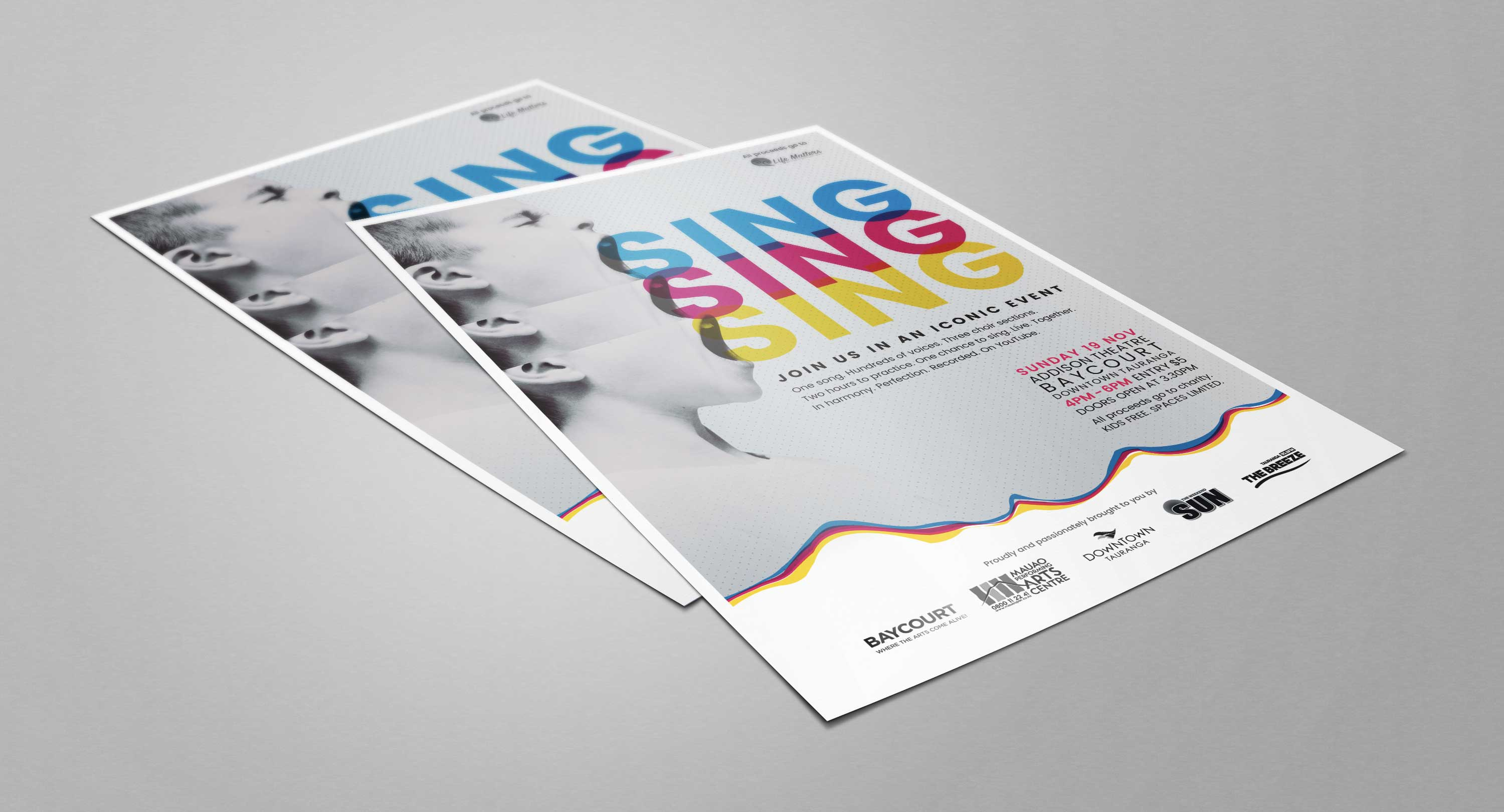 A selection of the design collateral we put together for the event
