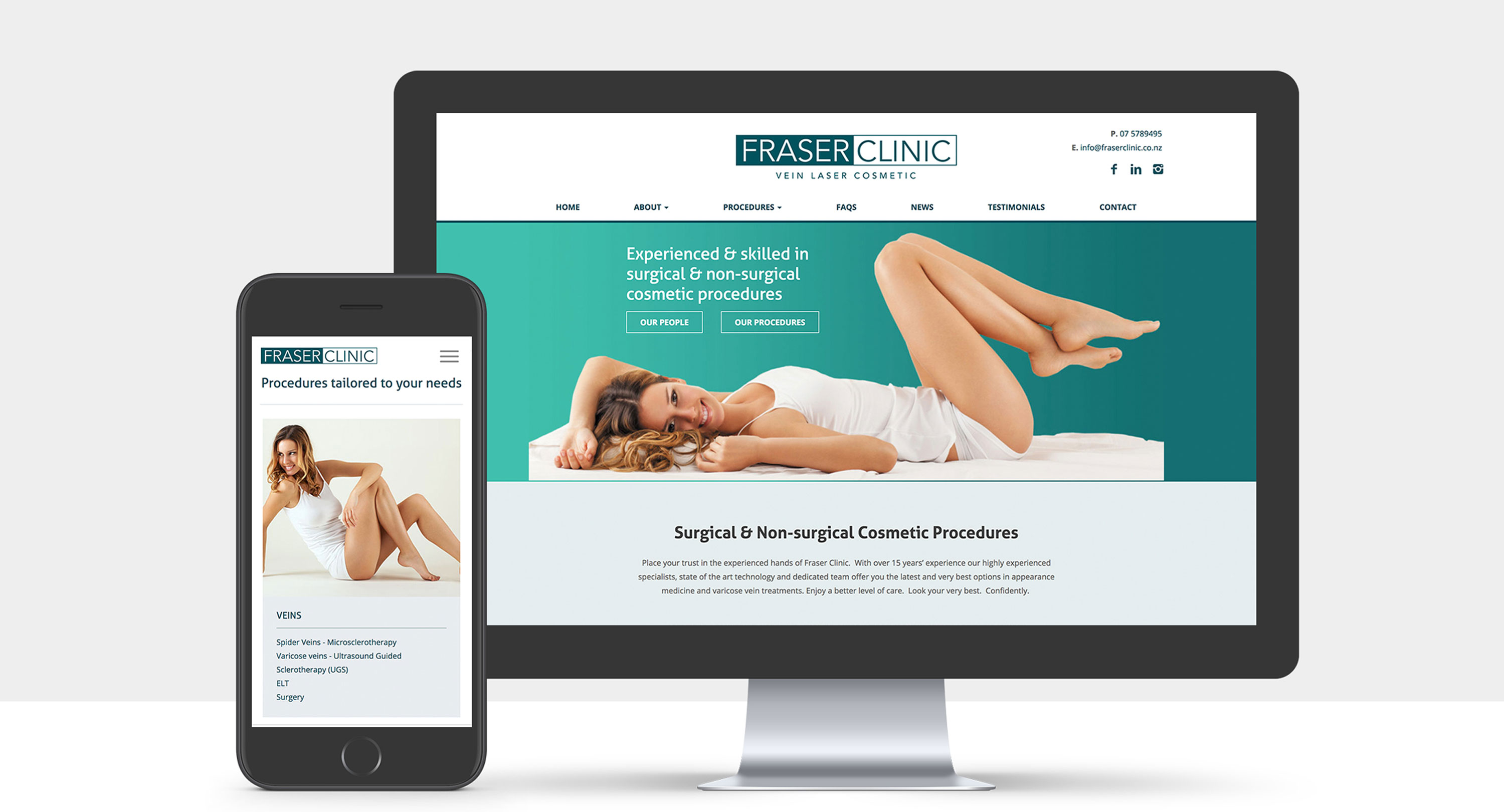 A view of the new Fraser Clinic website.