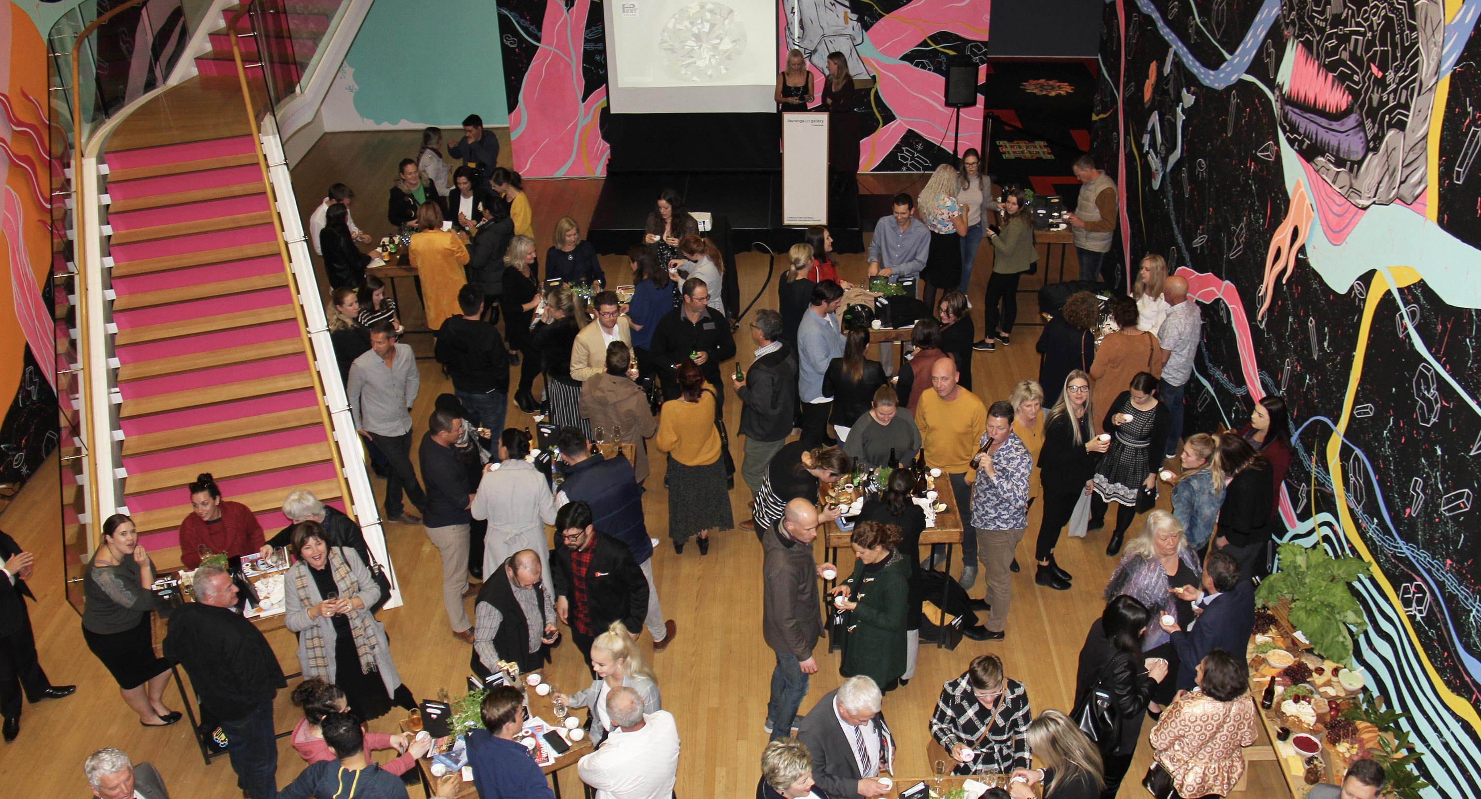 Guests gather and taste food at the opening night of Taste Tauranga