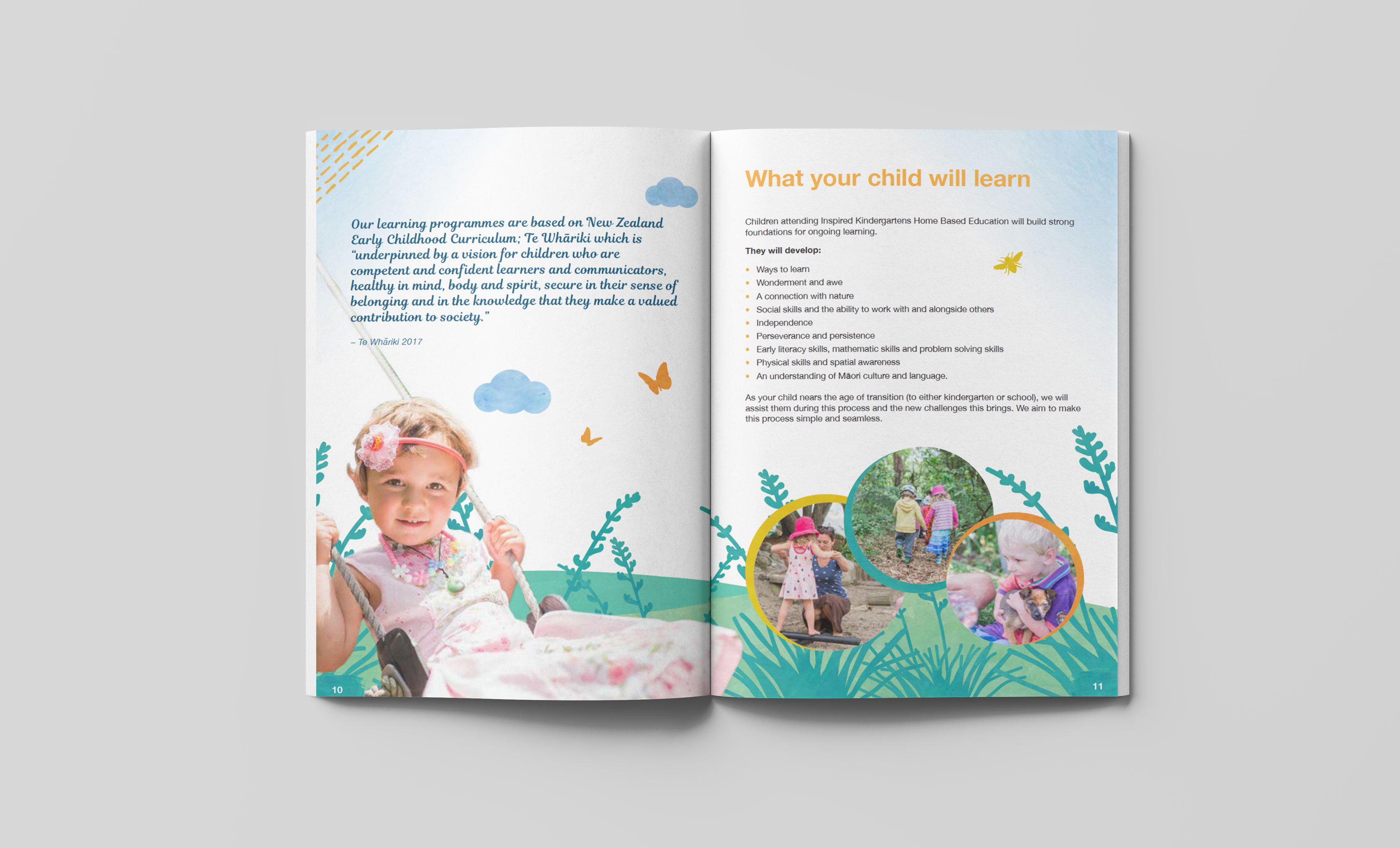 An image from inside the Inspired Kindergartens welcome brochure