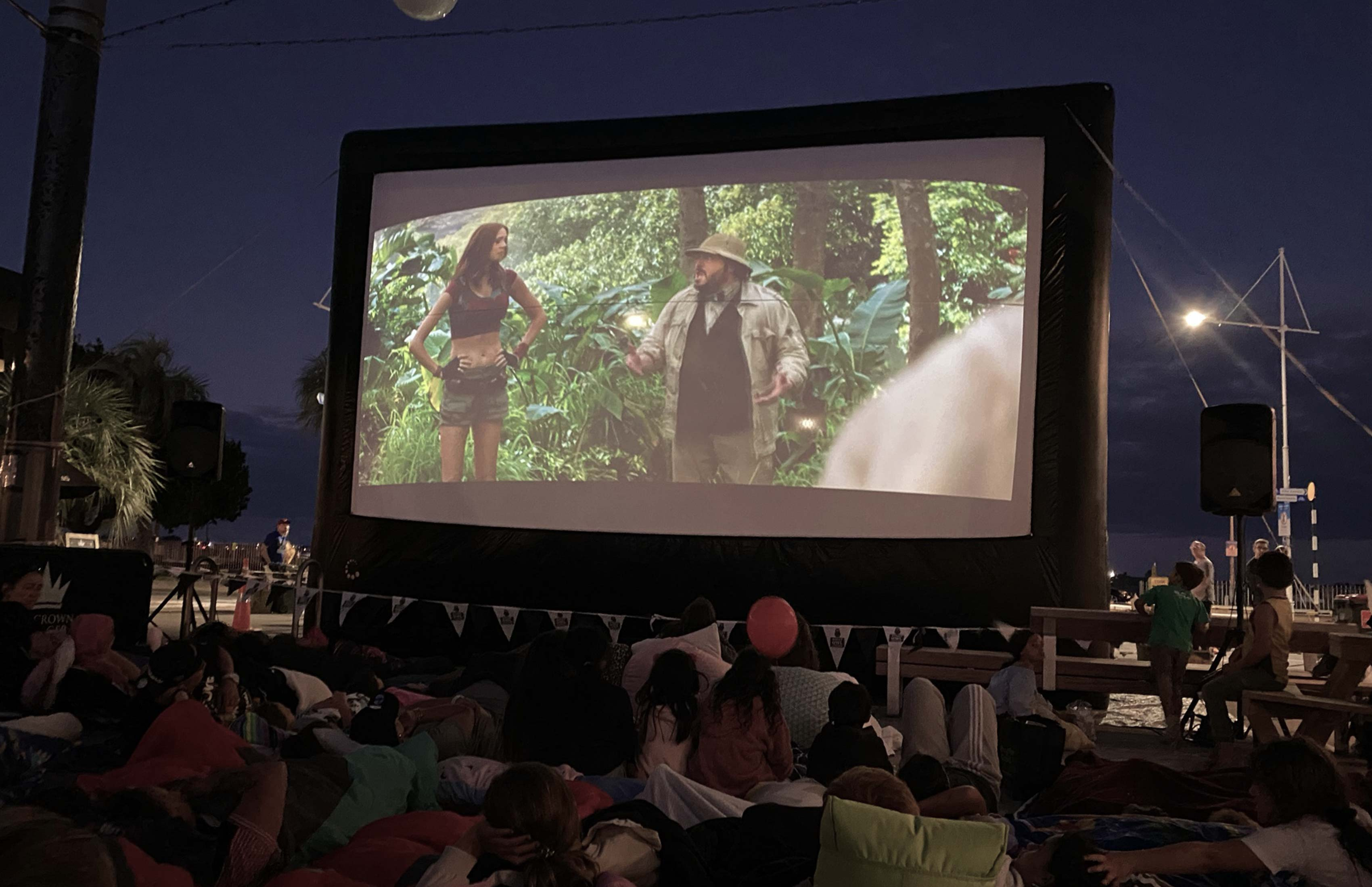 Outdoor Cinema takes place on Warf Street