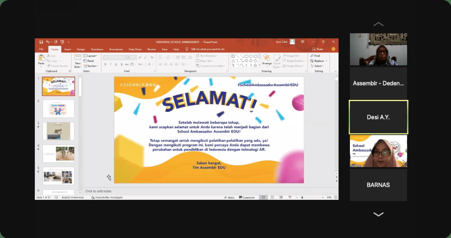 Assemblr School Ambassador - SMAN 1 Banjar