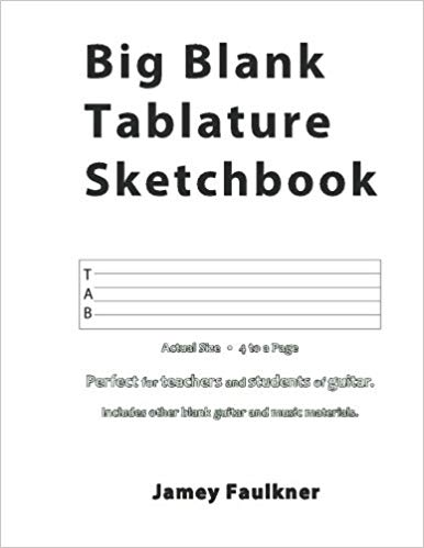 big blank tablature sketchbook by jamey faulkner