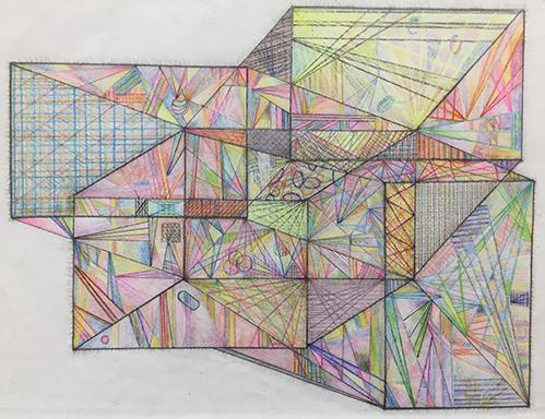 rooms by jamey faulkner color pencil art piece
