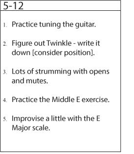 practice tracker list