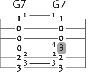 g seven to g seven guitar chord puzzle