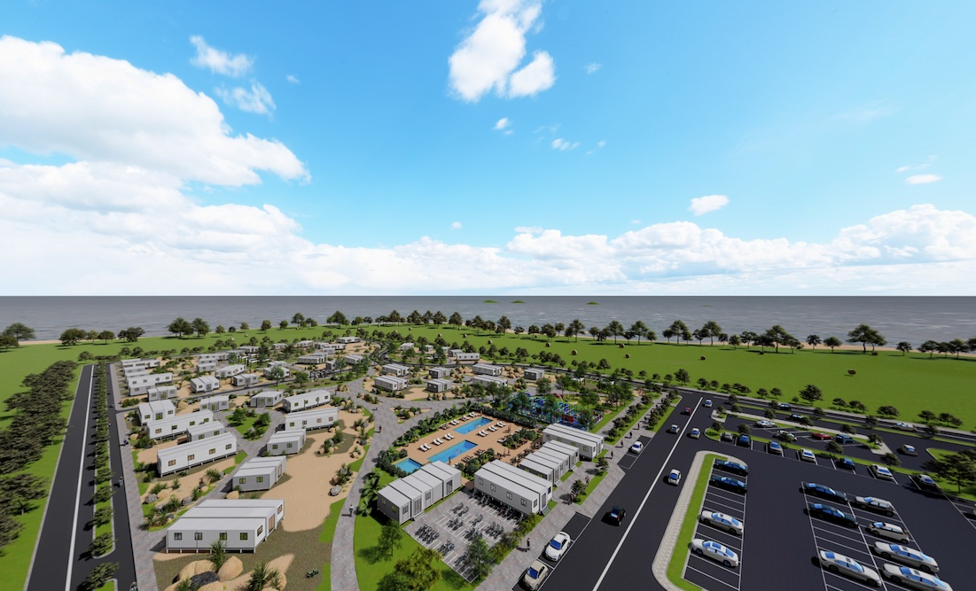 Caravan Park Virtual Rendering