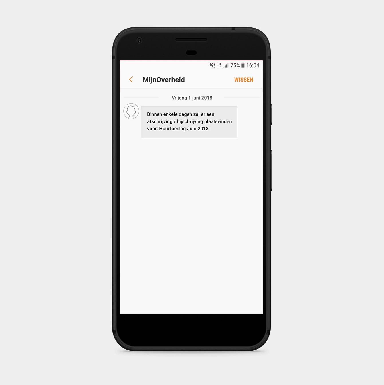 Ontvangen van een SMS Mijnoverheid