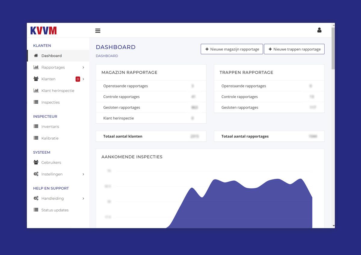 Weergave van inspectie gegevens in webapplicatie