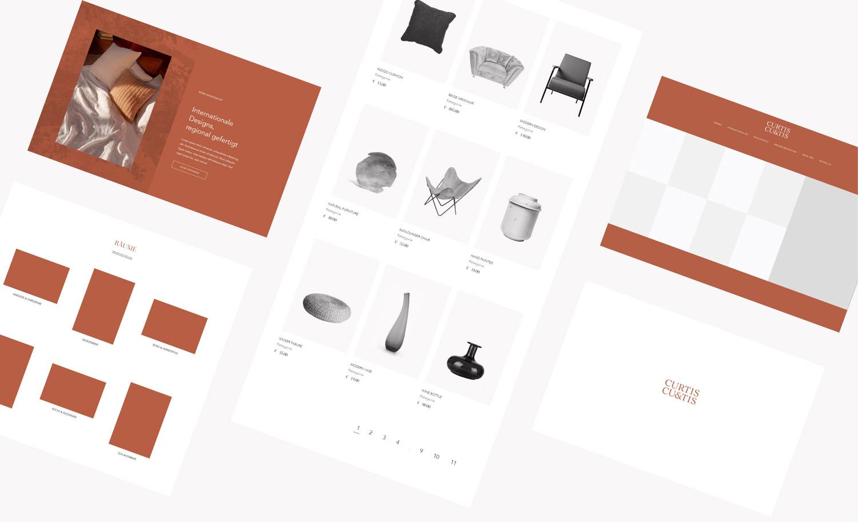 Curtis & Curtis, Webdesign
