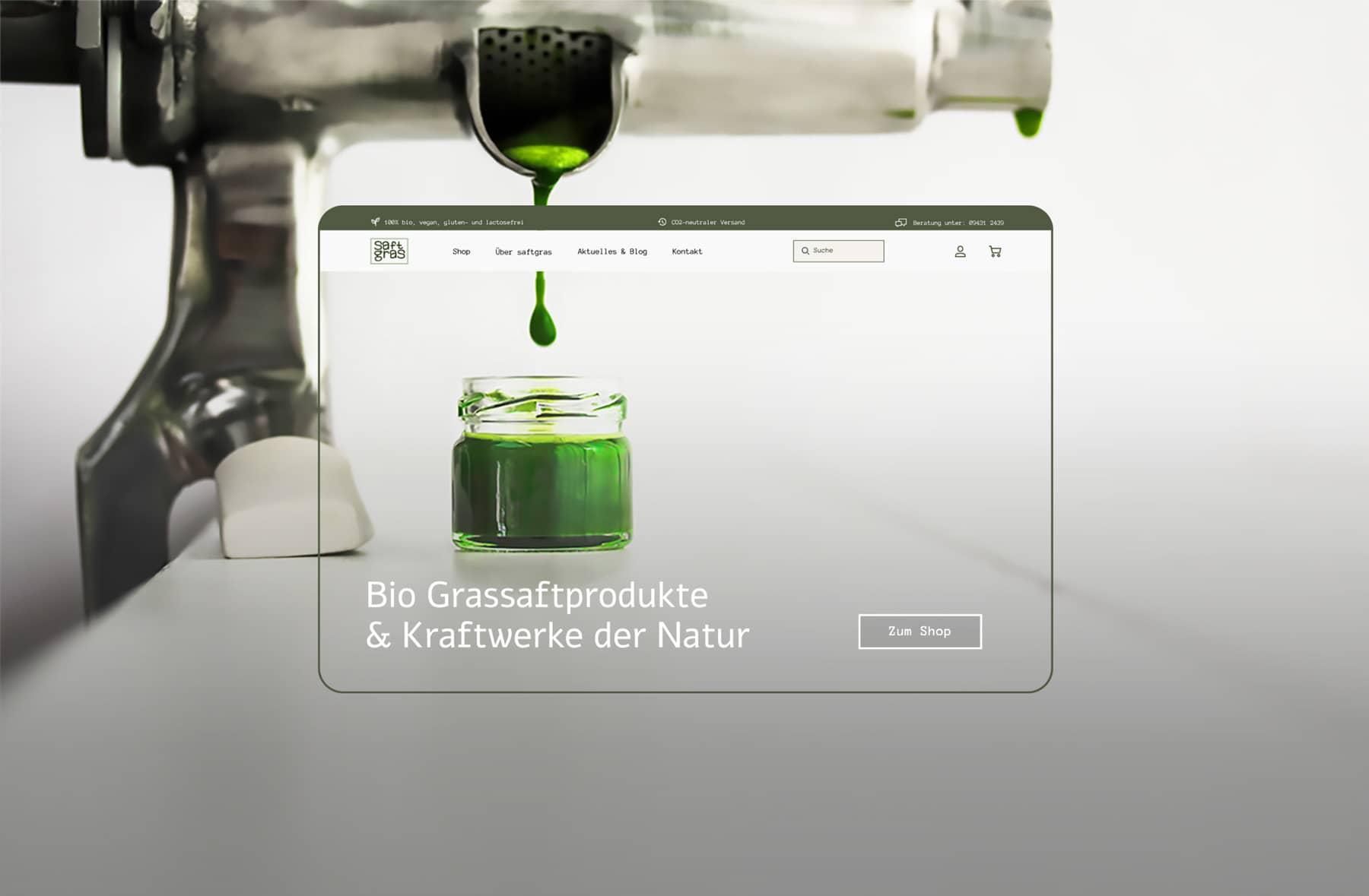 Saftgras, Webdesign