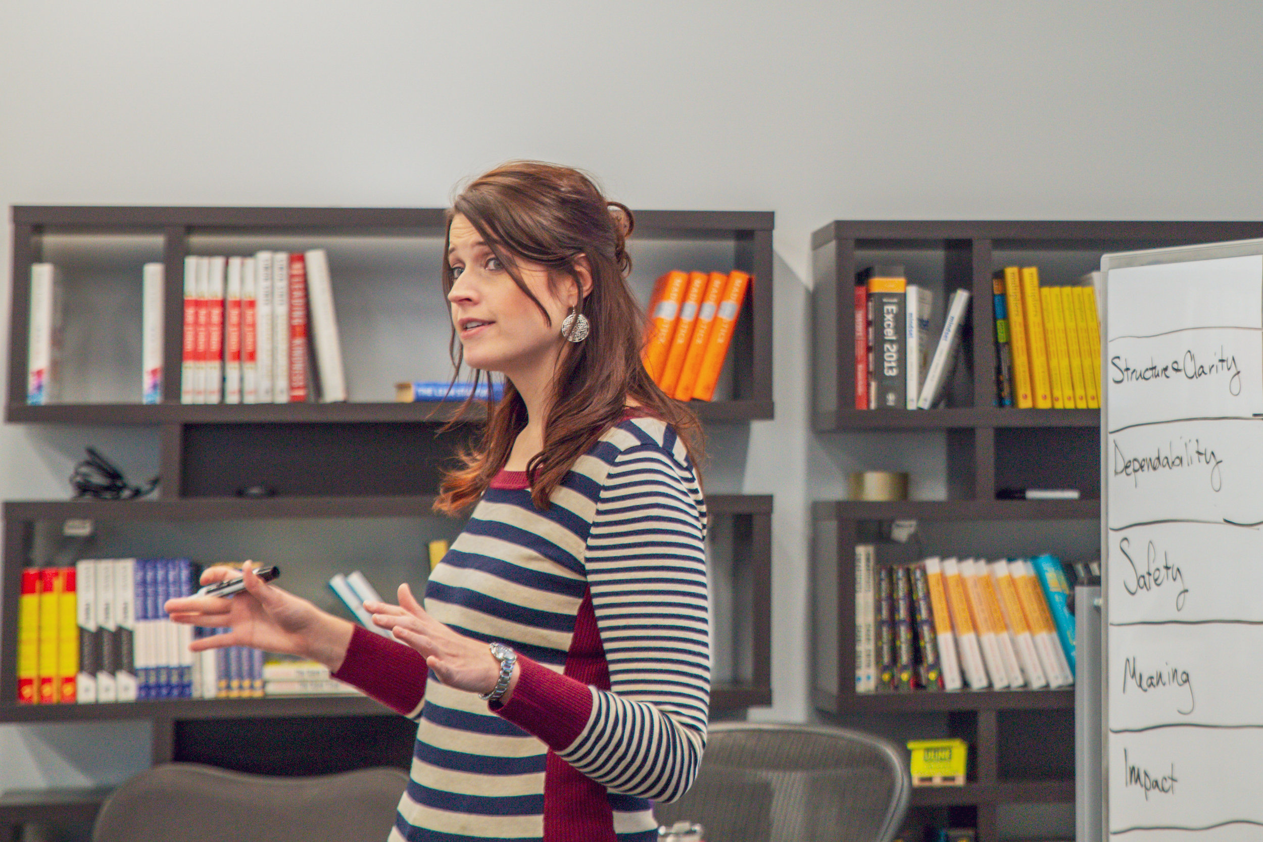 Trained facilitators like Steph Buck, Leadership Development Program Lead, walk each team through the Team Health Check feedback session, and guides the team in selecting action items.