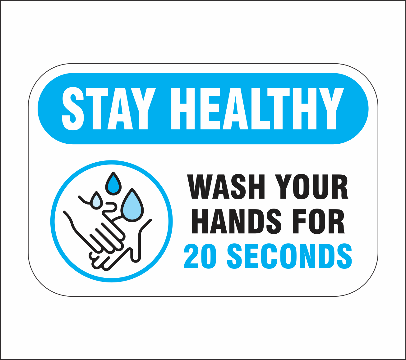 "6"" x 4"" Wash Your Hands decal"