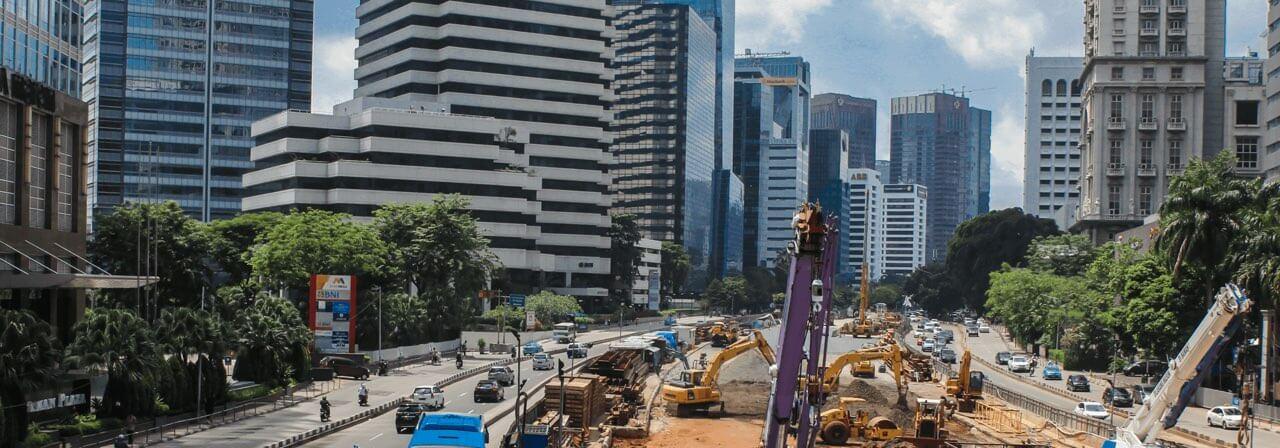 Jakarta Sudirman CBD construction works