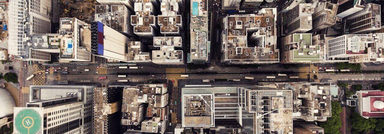 city blocks aerial