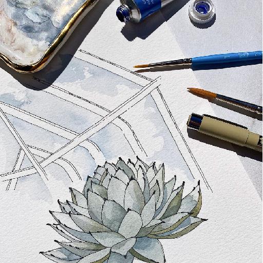 Watercolor Workshop Fundraiser with Sarah Simon