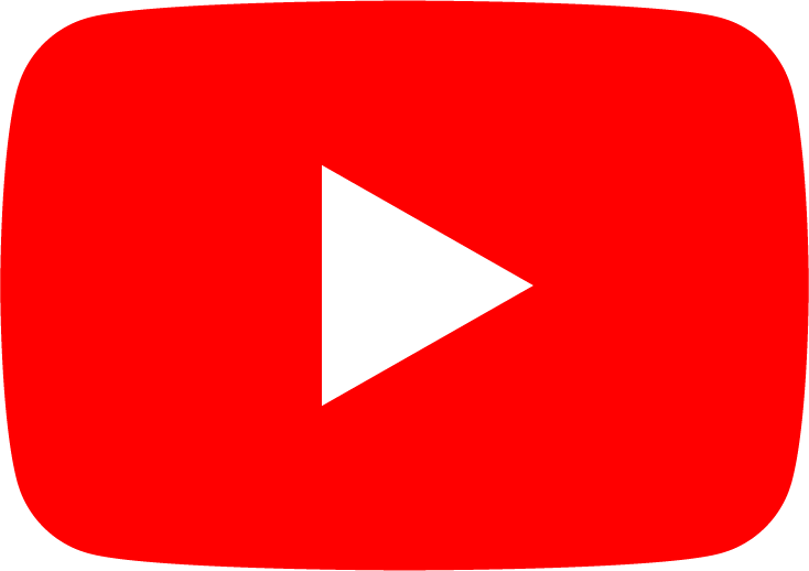 A rounded red rectangle with a right-facing arrow: the YouTube logo.