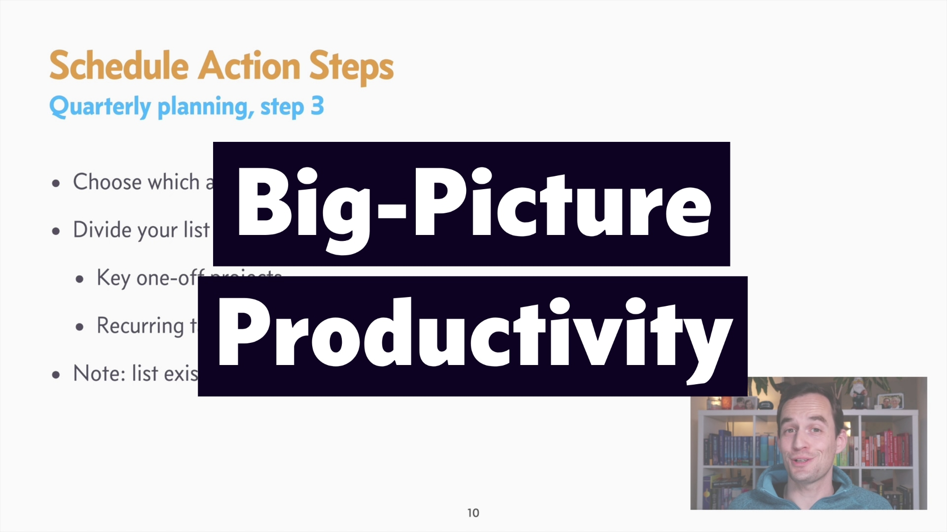A screenshot from the course Big-Picture Productivity
