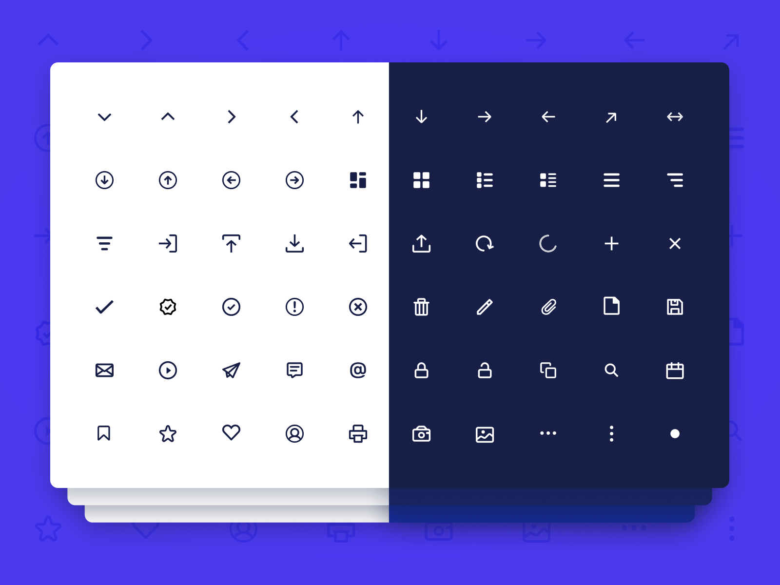 Dashboard UI Line Icon Pack